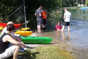 Beratung im Wasser